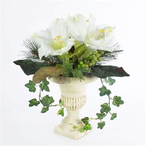 Composition Florale Artificielle by Composition Florale Artificielle Amaryllis En Pot De