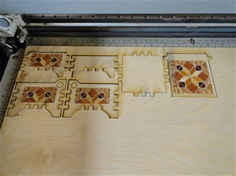 Laser Cut Wood Box Template by Wood Veneer Box Inlay