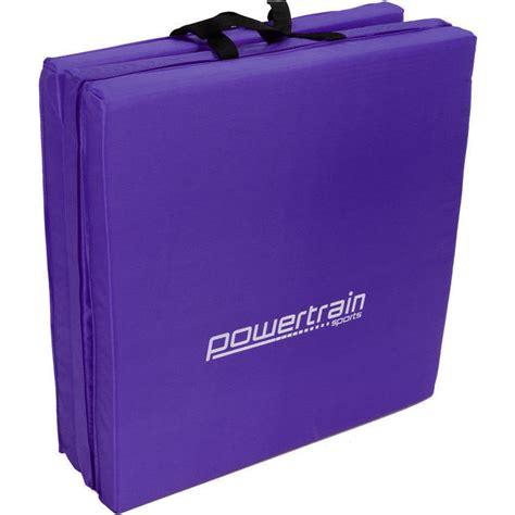 tri fold exercise mat in purple 180 x 60 x 5cm buy