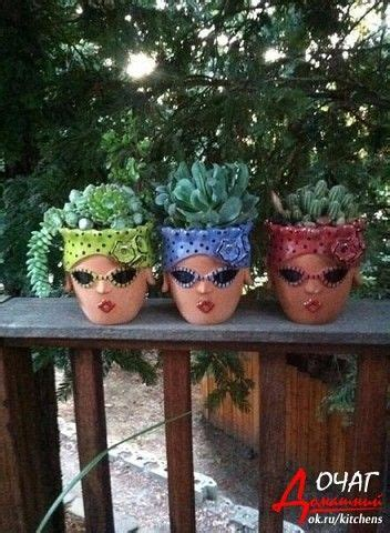 flower pots with faces on them 589 best images about planters with faces on pinterest
