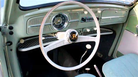 volkswagen beetle 1960 interior 1959 european beetle interior youtube