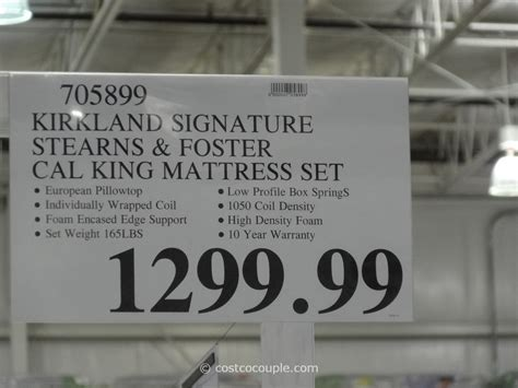 and foster kirkland signature sterns and foster san remo mattress