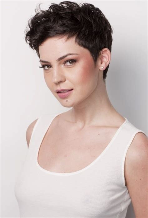 curly pixie hair style cute wavy pixie hair styles easy haircuts for women