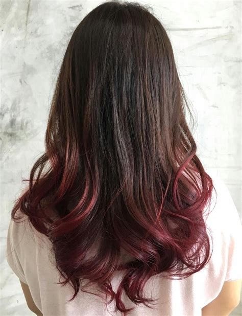 dyed hairstyles for black hair 40 vivid ideas for black ombre hair dip dyed black