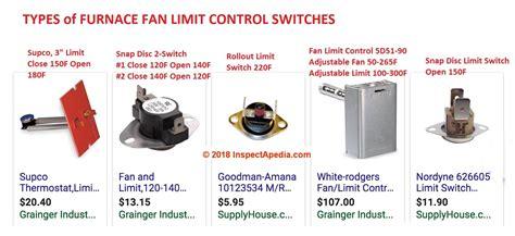 snap disc fan control switch furnace fan limit switch how does a fan limit switch work