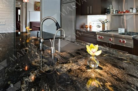 Black Cosmic Granite Countertops by Cosmic Black Granite Designs Marva Marble And Granite