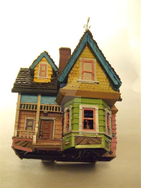 up house disney pixar disney s up house model by mattsculpt on deviantart
