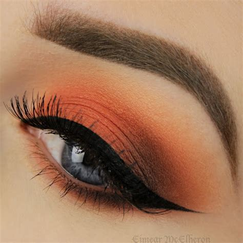 Make Up Eyeshadow capture the of sunset in your with copper and orange eyeshadow hues this