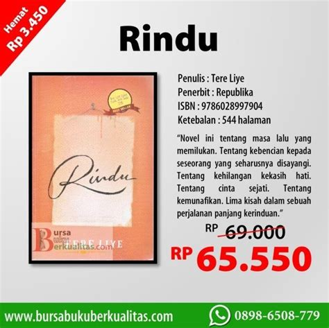download novel karya tere liye download buku gratis jual novel rindu karya tere liye wa 0898 6508 779