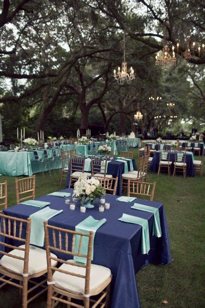 blue and teal reception decor // Ooh! Events   Wedding