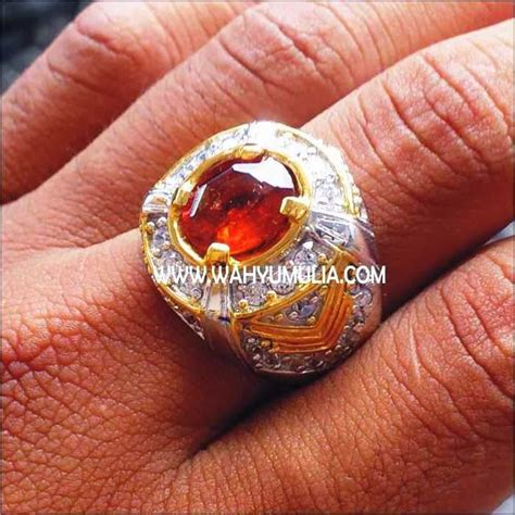 Batu Cincin Garnet Hitam batu cincin permata orange mandarin garnet 4 wahyu mulia