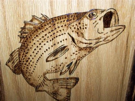 pyrography fish design pyrography pinterest design