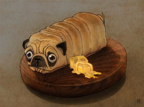 pug bread loaf that looks like pug that looks like a loaf of bread breeds picture no you re not a loaf of bread by hankai on deviantart