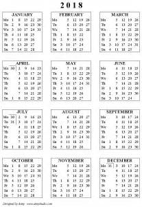 Mauritius Calendario 2018 7 Best Images Of 2018 Yearly Calendar Free Printable
