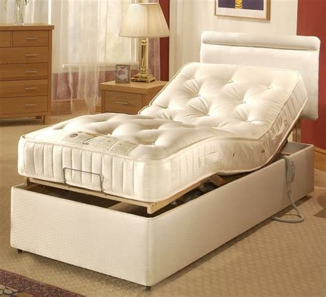 wooden suitable sleigh adjustable bed  bedroom