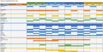 Digital Calendar Template by Search Results For Digital Marketing Schedule Excel