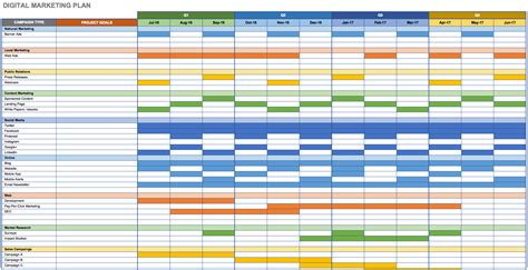 digital marketing calendar template search results for digital marketing schedule excel