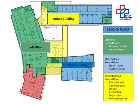 floor plan hospital visitor information fe del mundo medical center