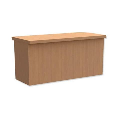 Reception Desk Riser Trexus Rectangular Reception Desk Riser Beech 419323 419323