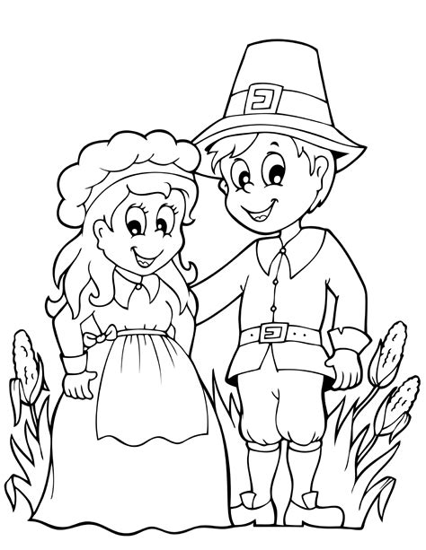 pilgrim family coloring page family pilgrim thanksgiving coloring pages coloringsuite com