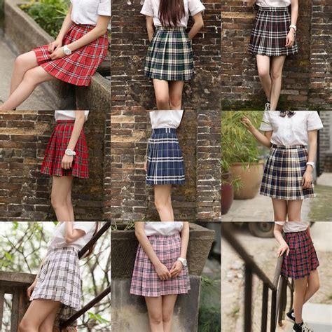 mini skirts japanese school girl uniforms japanese school girl uniform mini plaid pleated skirt
