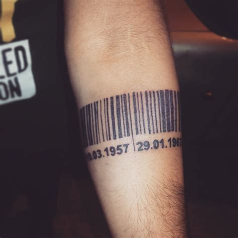 barcode tattoo date 25 graphic barcode tattoo meanings placement ideas 2018