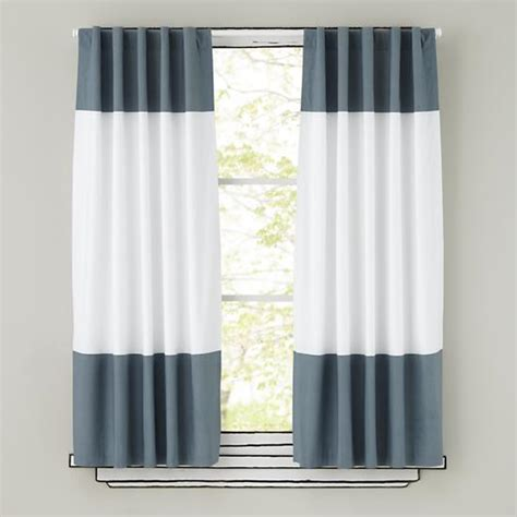 Grey And White Curtains Grey And White Curtain Panels The Land Of Nod