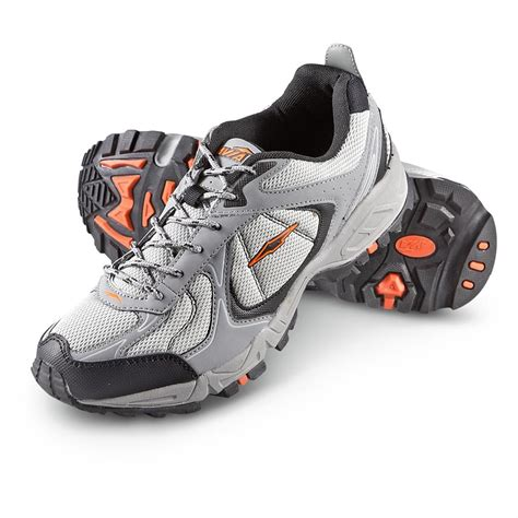 avia athletic shoes s avia 174 5821 trail running shoes gray orange