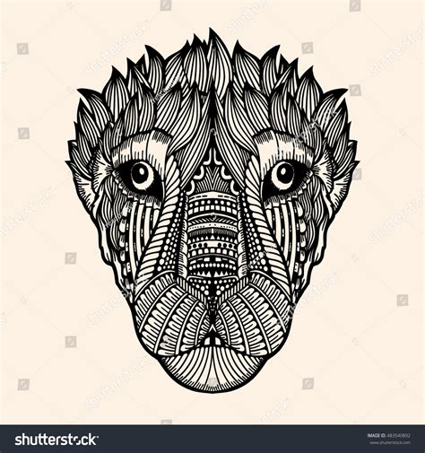 how to draw a doodle tiger zentangle tiger doodle vector stock vector