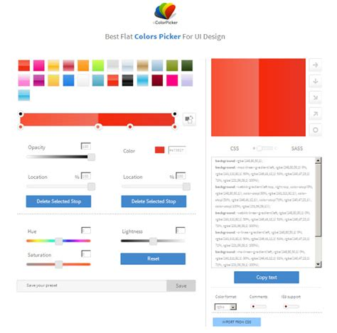 flat color picker flat ui color picker for web designers