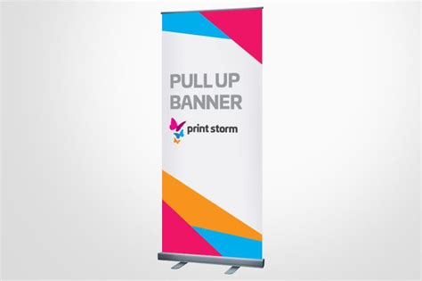 pull up banner template print pull up banner