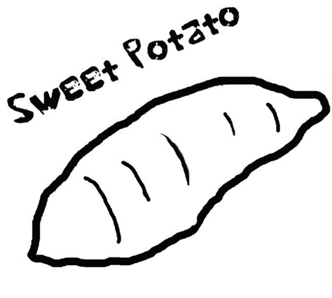 sweet potato coloring page amp coloring book