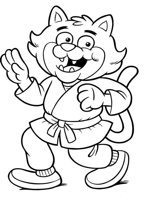 ninja cat coloring pages free coloring pages of karate girl