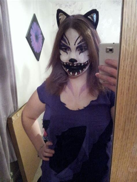 scary cat painting ideas scary cheshire cat makeup paint cat fancy dress