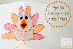 thanksgiving craft pop up turkey card with free printable