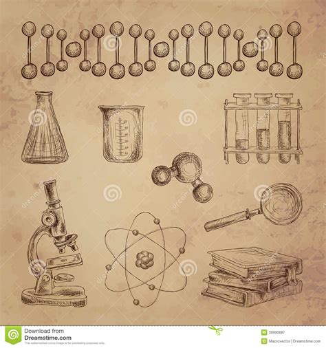 doodle science science doodle icons stock vector image of molecular