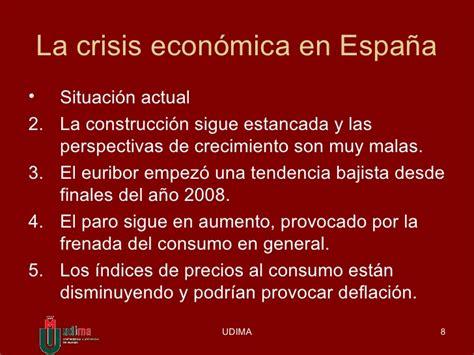 espaa estancada por la crisis econ 243 mica en espa 241 a