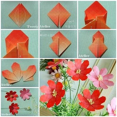 How To Craft A Paper - how to make pretty paper craft origami flower