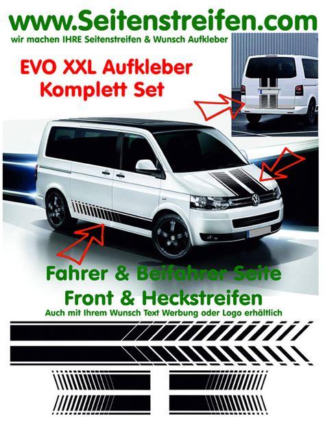 Vw Bulli Aufkleber Auto by Vw Bus T4 T5 Evo Xxl Komplett Seitenstreifen Haube Heck
