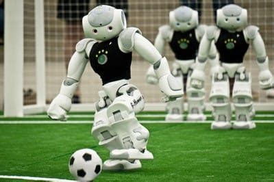 Dribling Robot Soccer Robot german engineering team just won the world cup of robot football