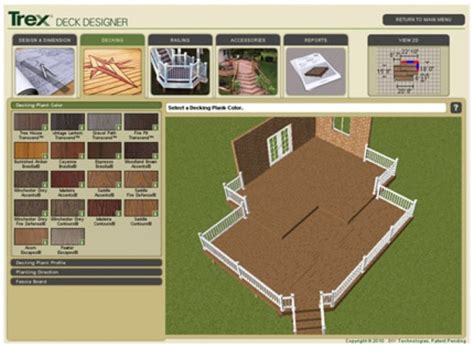design your own deck plans images