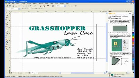 business card template for coreldraw x5 create a business card with coreldraw youtube