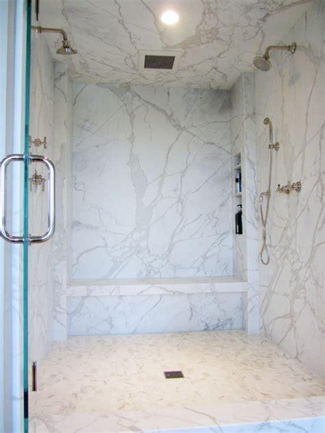 Marble Slab Walk In Shower