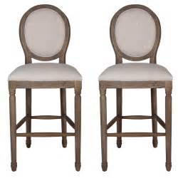 French Country Style Coffee Tables - weathered provence bar stools