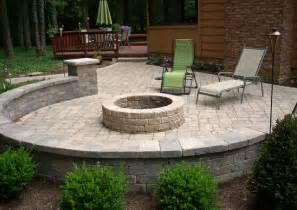 Landscaping Backyards A Backyard Fire Pit Traditional Patio Cleveland By
