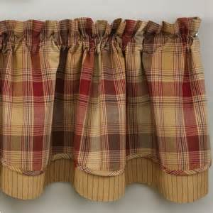 Window Valance Kitchen Country Layered Valance Curtains Hearthside 72 Quot X 16 Quot