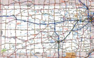 State Map Of Kansas by Large Detailed Roads And Highways Map Of Kansas State With