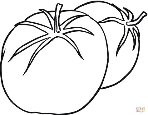 tomato behind the other tomato coloring page free