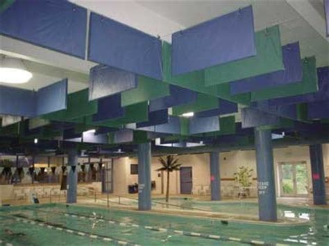 hanging banners from ceiling hanging baffles and banners from acoustical solutions inc