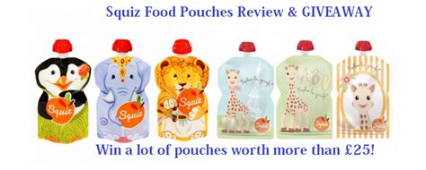 Food Giveaway Today - squiz food pouches review giveaway the frenchie mummy